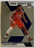 2019-20 Prizm Mosaic Zion Williamson Premium Rookie NBA Debut RC #269 Pelicans