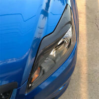 Carbon Fiber Eyelids Eyebrow Lid Headlight Molding Trim Cover For Ford Focus 09+