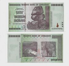 50 TRILLION ZIMBABWE ZA DOLLAR,Uncirculated Replacement MONEY[10 20 100]Currency