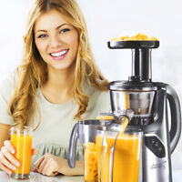 NEW COMMERCIAL SLOW JUICER MACHINE MASTICATING COLD PRESS FRUIT VEGETABLE GREY ^