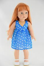 Blue Party Dress American Made Doll Clothes For 18 Inch Girl Dolls