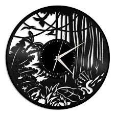 Forest Vinyl Wall Clock Unique Gift for Tourists Men Women Home Nursery Decor