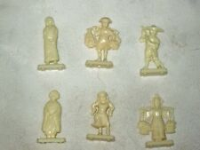 6 x Ass't 1971 Sanitarium Cereal Toys National Costumes People of the World