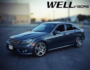 WellVisors For 08-14 Mercedes Benz W204 C-Class Side Window Visors Rain Guards