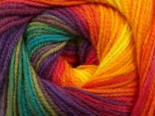 100gr Magic Light #55959 Rainbow Ice Multicolor DK Acrylic Yarn 393y