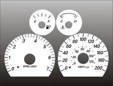 2004-2005 Ford Taurus Sable METRIC KPH KMH Dash Cluster White Face Gauges