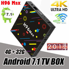 H96 Max H2 Android 7.1 Smart TV Box 4G/32G Wifi Quad-Core 4K HD Media Player NEW