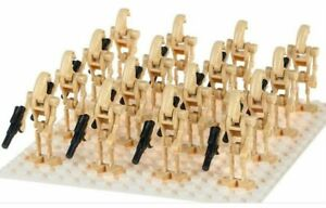 20 X  BATTLE DROID ARMY STAR WARS TOYS MINI FIGURES ARMY NEW CLONE