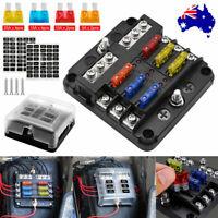 19Pcs 6 Way Auto Blade Fuse Box Holder Block Panel 32V Car Power Distribution AU