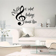 MUSIC IS WHAT FEELINGS SOUND LIKE Wall Art Decal Quote Words Lettering Decor