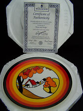 "Wedgwood Clarice Cliff ""House and Bridge"" 8in Plate + Certificate + Case"