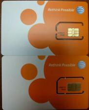 Lot Of 100 New At&T Prepaid/Postpaid 4G Lte Sim Card. At&T Sku 40952