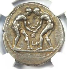 Pamphylia Aspendus AR Stater Wrestlers Coin 380-325 - Certified NGC Choice VF