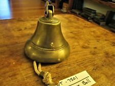 """Vintage Maritime Bronze/Brass 6"""" Bell With Mount - Estate Lot 7501"""