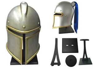 1:1 WOW World Of Warcraft Alliance Storm wind Warrior Helmet Game Cosplay Sword