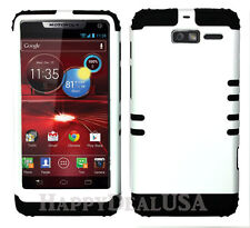 KoolKase Hybrid Cover Case for Motorola Droid Razr M XT907 - White (R)