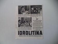 advertising Pubblicità 1953 IDROLITINA