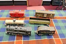 6 Vintage Marx Post War 1950 O Gauge Train Set - Steam Engine 999- All Metal