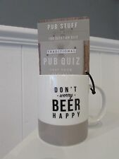 Rare NEW Collectable Bell & Curfew Hipster Beer / Pub Quiz game Ceramic MUG CUP