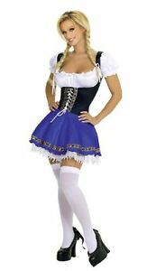 Beer Girl Costume Cosplay Dress Bar Maid Fo Bavarian Wench Oktoberfest Halloween