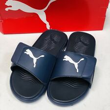 PUMA Mens Starcat Tech Slide Sandals Navy Blue US Size 9