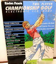 Radio Shack Electronic 2 player Championship Golf Handheld Video Game w/Box