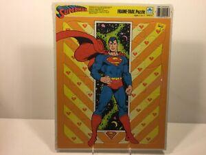 Vintage 1989 Sealed SUPERMAN Frame Tray Puzzle Golden MIP
