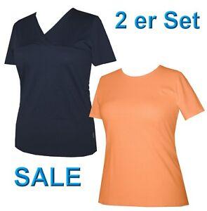 2er Set Schneider Sportswear Damen Shirt Pulli T-Shirt 2 Stück blau Gr. 40 - M