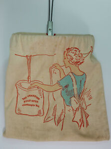 Vintage Champion Stay Open Clothespin Cloth Bag Laundry