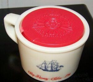 Old Spice Glass Shaving Mug with Soap Ship Recovery Salem 1794