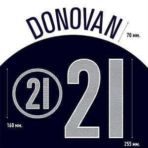 Donovan 21. USA Away football shirt 2004 - 2006 FLEX NAMESET NAME SET PRINT