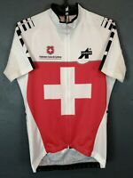 RARE MEN'S SHIRT ASSOS SWITZERLAND SUISSE CYCLING JERSEY MAGLIA SIZE M 3 MEDIUM