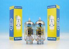 2x MATCHED ECC88 TESLA Silver Shields HiFi Audio PAIR TUBES 6DJ8 CV5358 M3624 F