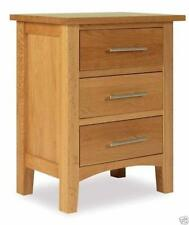 Oak Over 70cm High Bedside Tables & Cabinets with 3 Drawers