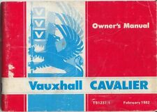 Vauxhall Cavalier Mk 2 1981-82 Original UK Owners Handbook 1300 1600 L GL SR GLS
