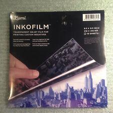 Lumi Inkofilm 85 Transparent Inkjet Film For Printing Negatives 10 Sheets New