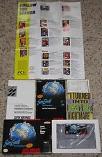 SimEarth The Living Planet Sim Earth COMPLETE Super Nintendo - Box - Poster FCI