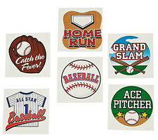 36 Assorted Baseball Sports Fun Kids Temporary Tattoos Party Favors #42/2170