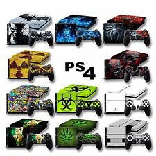 PLAYSTATION 4 PELLE VINILE PER PS4 ADESIVO CONSOLE STICKER PERSONALIZZA SKIN