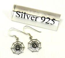 Spinne im Netz Ohrhänger 925er Sterling Silber Ohrringe Unisex Neu