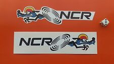 NCR Ducati Handed Motorcycle Stickers 200mm Classic N.C.R.