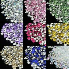 1000pcs 4.2mm Acrylic Silver Bottom Diamond Table Confetti Crystal Table Scatter