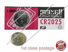 3V CR2025 BR DL ECR Lithium Button Cell battery, maxcell Car Key Fob Remote UK