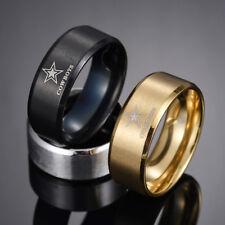 DALLAS COWBOYS 8mm Ring Rings For Men Boys S. 6-13 Football Team Stainless Steel