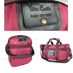 Pierre Cardin Vintage Burgundy (2 Bags) Duffle Bag Shoulder Bag Lot