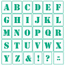 30 Buchstaben ABC Schablonen ● Schriftschablonen Alphabet ● verschiedene Größen