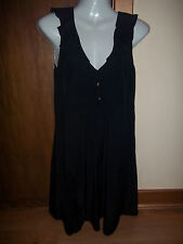 womans black sleeveless tunic style dress from miss selfridge size 6 in v g cond