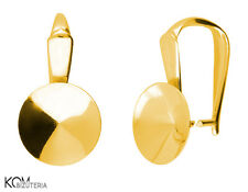 Pendant (bail) for Swarovski 1122 rivoli 10 mm w 124 - gold-plated silver
