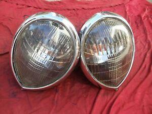 1937 1938 1939 Ford Headlights Headlamp & Buckets Assemblies 37 38 39