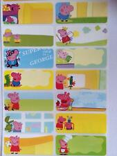 Clearance Sale - 60 Peppa Pig pictures personalised name label (Large size)